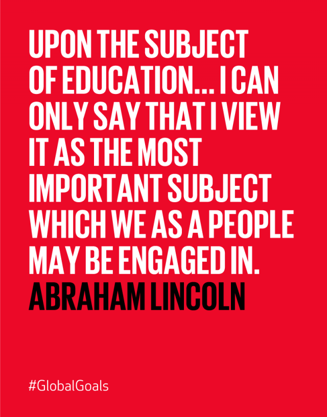 Quality Education Abraham Lincoln Quote