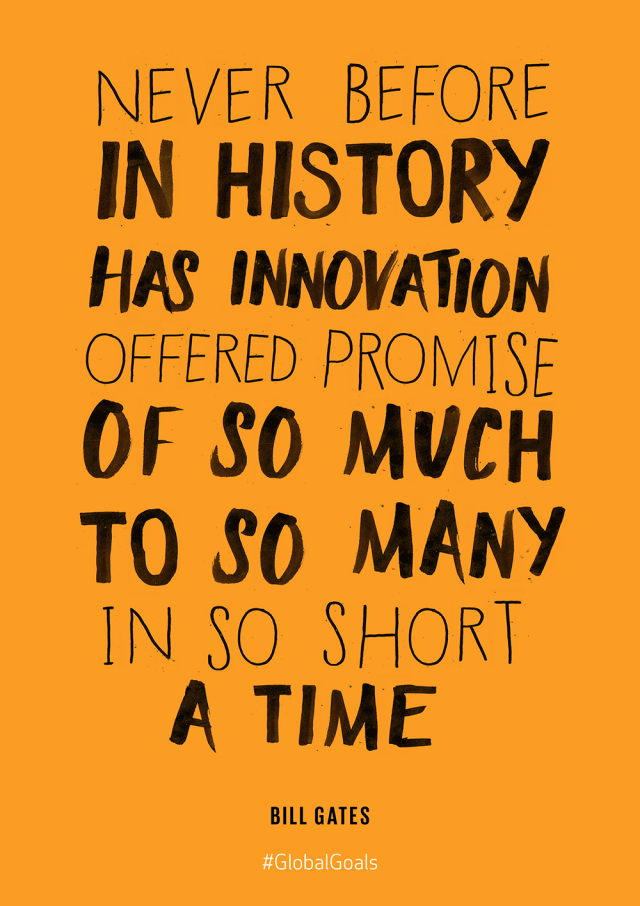 Innovation & Infrastructure Bill Gates Quote