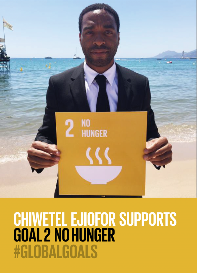 Chiwetel Ejiofor Supports No Hunger