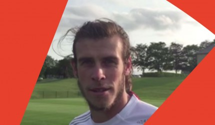 Gareth Bale kicks off the Dizzy Goals