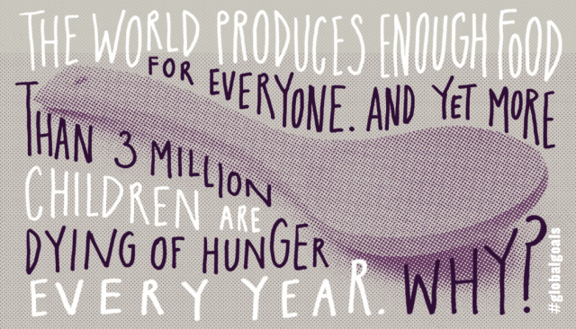 If we make @TheGlobalGoals famous. #Goal2 - No Hunger will be achieved. Tell everyone about the #GlobalGoals today.