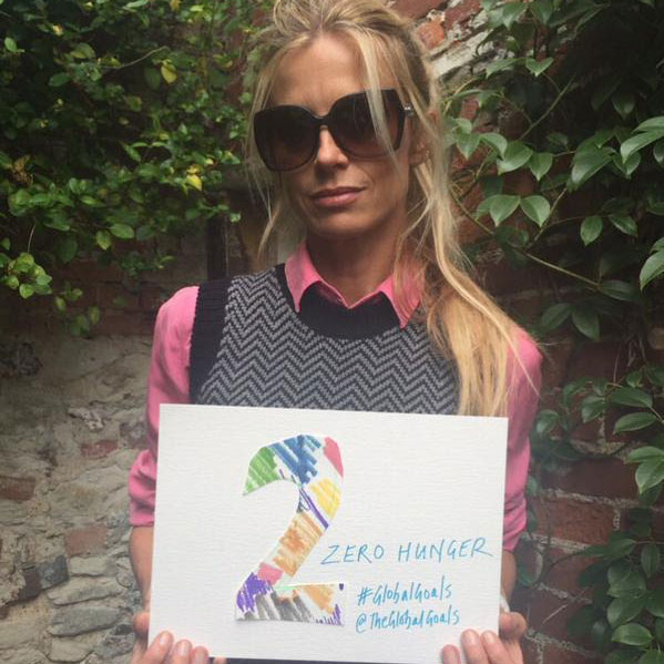 Laura Bailey cares most about Goal 2 Zero Hunger#globalgoals