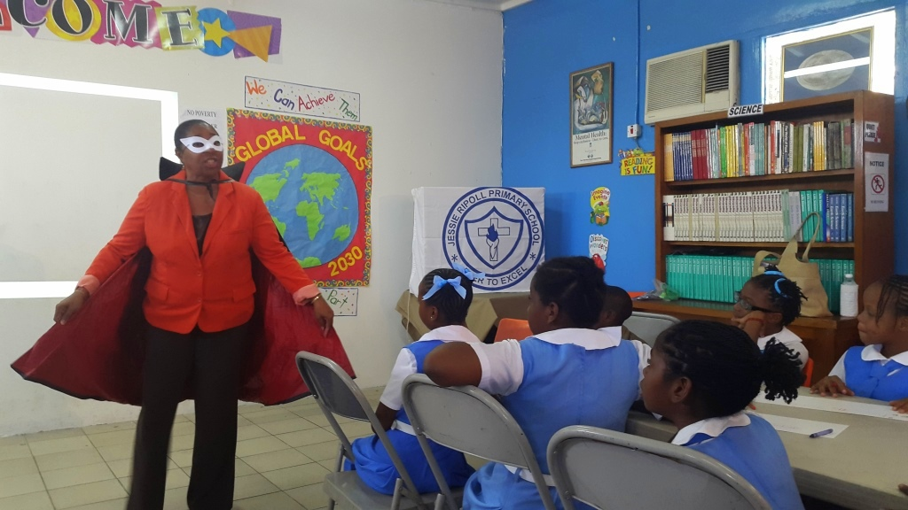 World's Largest Lesson in Jessie Ripoll Primary School, Jamaica
