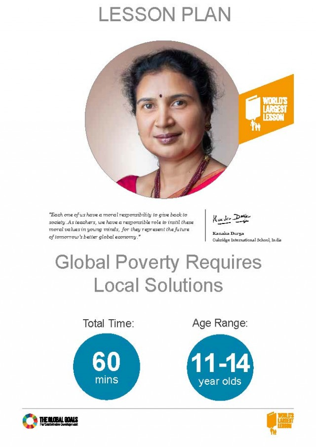 Solutions global poverty essay