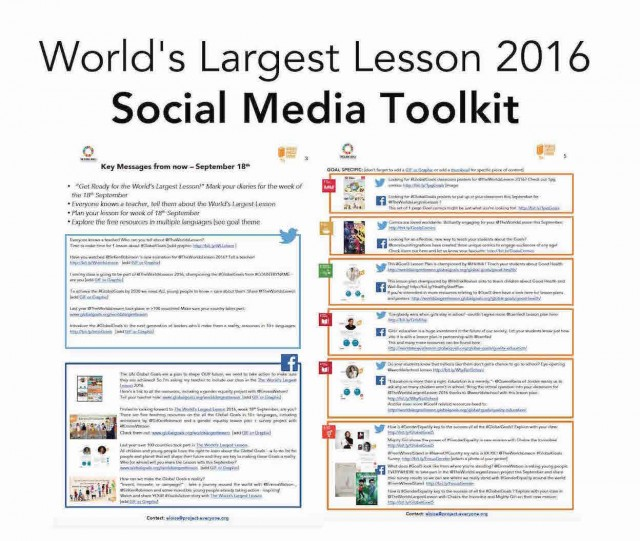 Social Media & Sharing Toolkit | The Worlds Largest Lesson