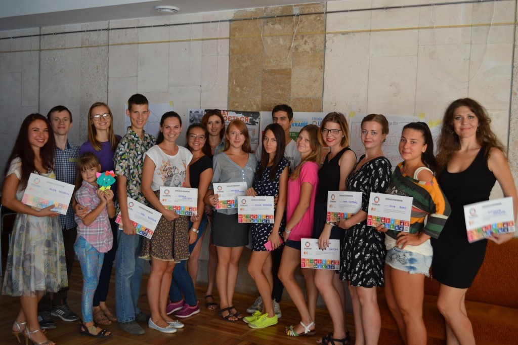 Eco School WLL participation certificates Ukraine